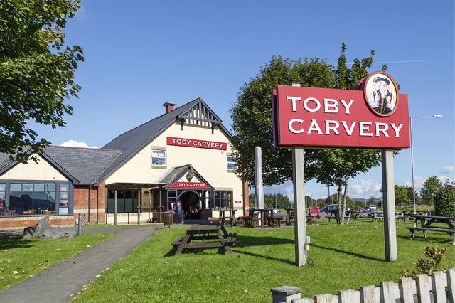 Toby Carvery has slashed the prices of its carvery by 40 per cent, so diners can get a roast for the bargain price of £4.29 - but the offer is on for a limited time (Photo: Shutterstock)