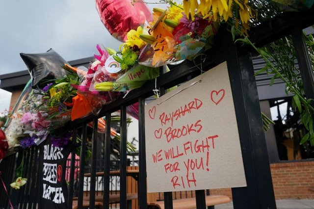 Demonstrators in  Atalanta have paid tribute to Rayshard Brooks over the weekend (Getty Images)