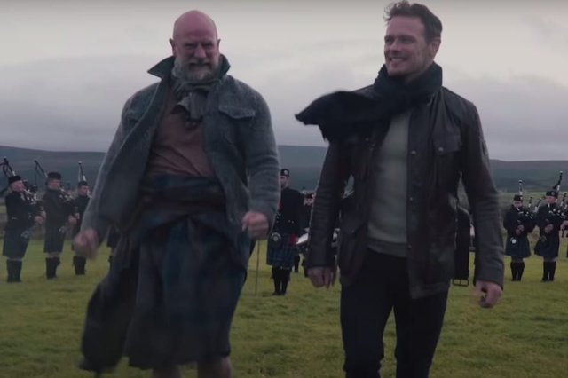 "The recently released trailer promises fans a show about ""two men on an adventure of a lifetime"" (Credit: Starz)"