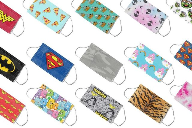 Designs range from from Care Bears and Sesame Street to Batman and Wonder Woman (Photo: MaskClub)