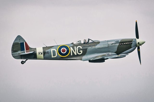 The Spitfire - similar to this craft - will have the message 'THANK U NHS' painted under its wings (Photo: Shutterstock)
