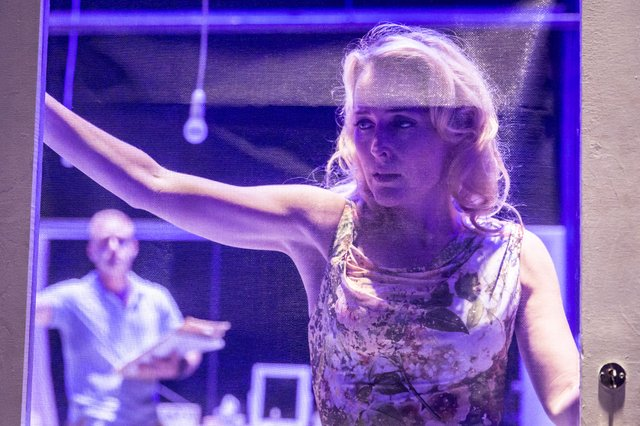 Gillian Anderson as Blanche DuBois in A Streecar Named Desire at the Young Vic in 2014 (photo: Johan Persson)