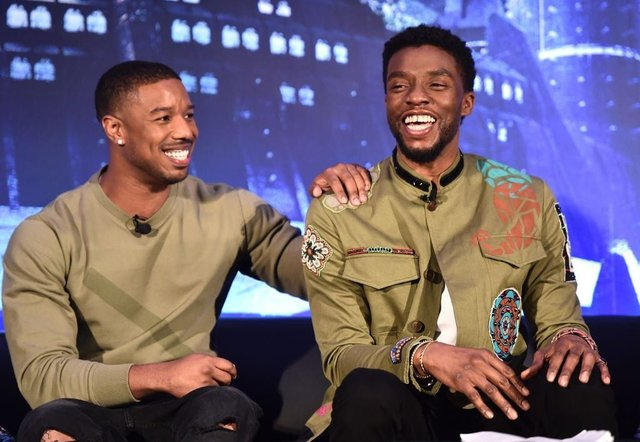 Actor Michale B Jordan is among those who have paid tribute to Chadwick Boseman (Getty Images)