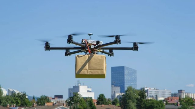 The first Amazon drone package was delivered in the UK in 2016. (Photo: Shutterstock)
