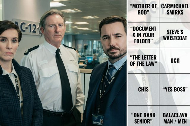 Line of Duty comes to a climax in its season six finale - and you can play our bingo game below (Photo: BBC)