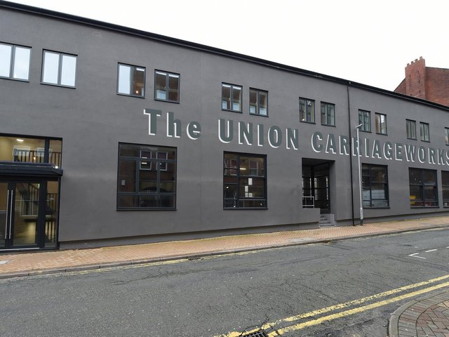 The Union Carriage Works in Guildhall Street is now complete