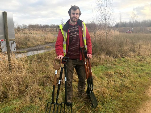 Rob Price, an education officer at Brockholes
