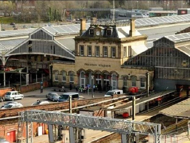 Trains have been suspended through Preston station after debris has fallen onto the tracks from the station roof