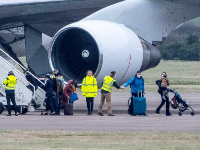 Eighty-three Britons and 27 foreign nationals arrive at RAF Brize Norton