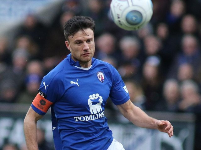 Jonathan Smith in action for Chesterfield