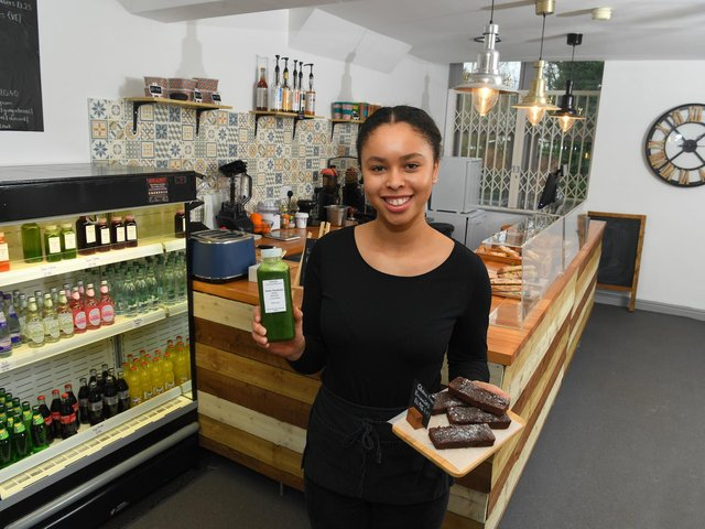 Lucy Ugborokefe, who opened Origin Juice and Brew Bar when she was only 15 years old