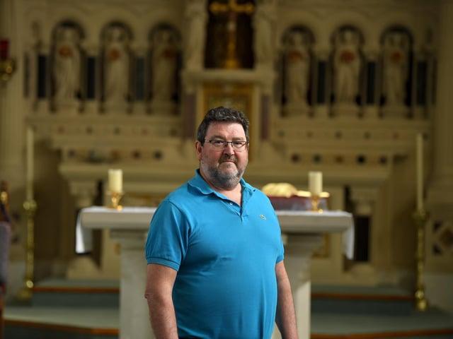 Fr. Graeme Dunne celebrated Mass in an empty church - but still had a big congregation