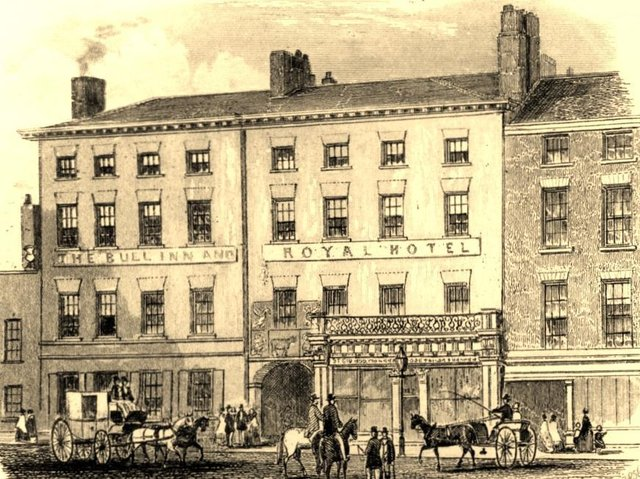 There was a theft at the fashionable Bull Inn in 1851