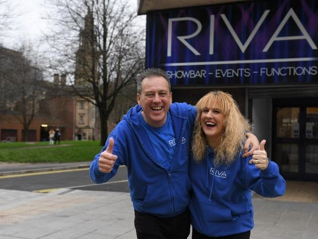 David and Tracey Billington outside Riva Showbar