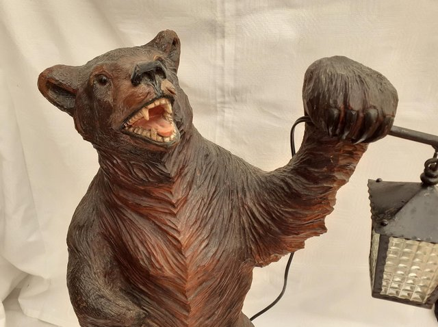 This splendid bear is a good example of Bavarian Forest Ware
