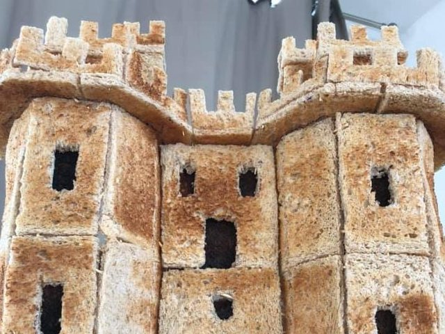 Lancaster Castle constructed from toast. Pic: Matt Close