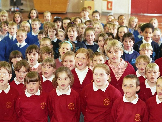 Hundreds of foot-stomping youngsters from schools across Preston will be treading the boards at the annual Preston Schools' Music Festival. Children from Blessed Sacrament School are pictured in rehearsal