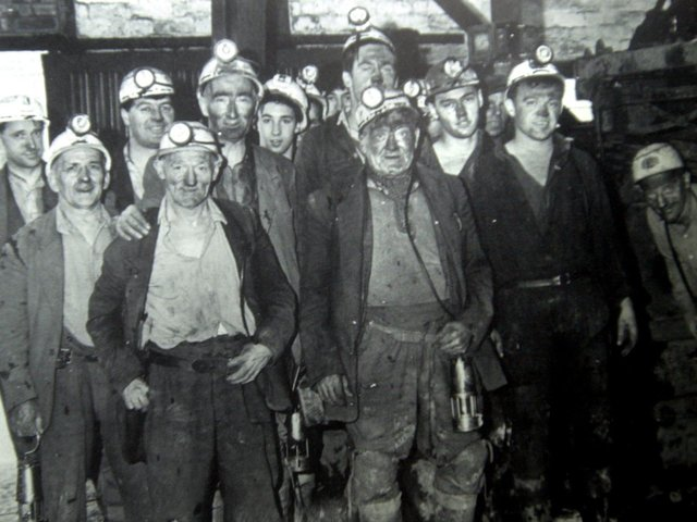 The last shift prior to the closure of Ellerbeck Colliery near Coppull in 1928.