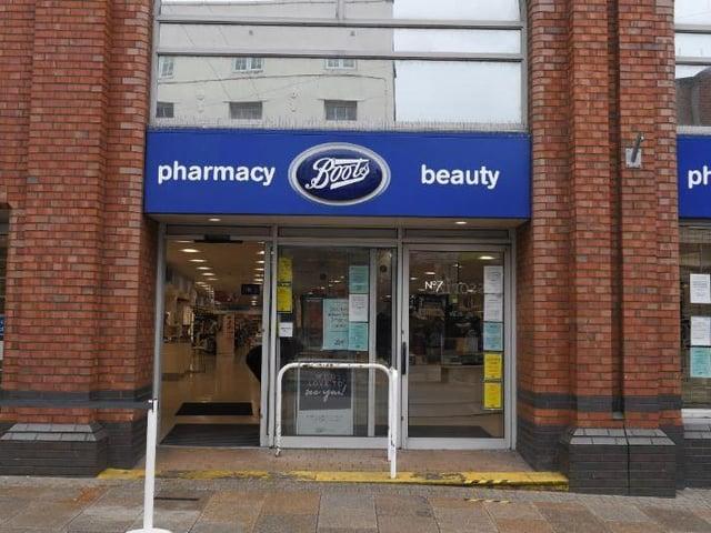Boots pharmacy on Preston's Fishergate.