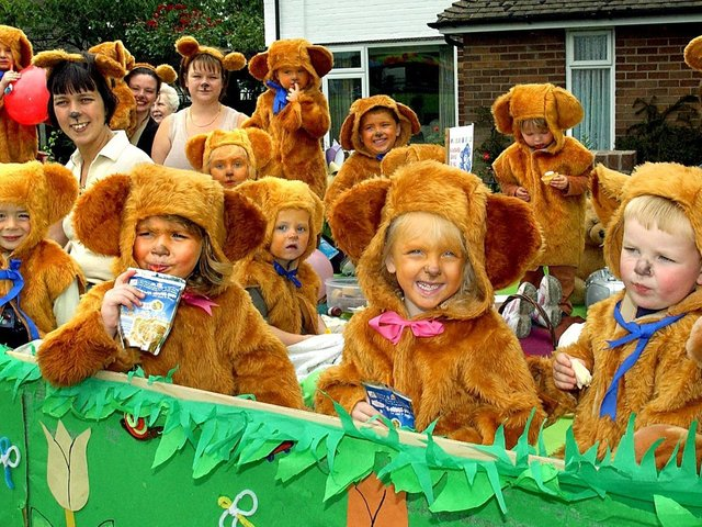 Children from the Nicholas Bear Club on their float during Wrea Green Field Day