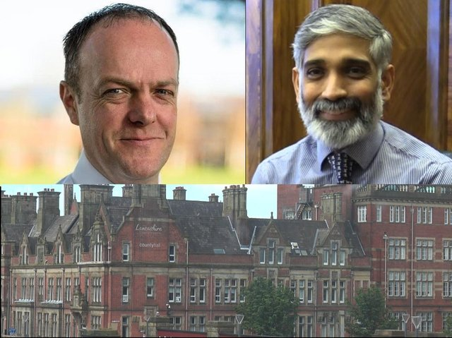 Deputy chief constable Terry Woods of Lancashire Constabulary and Dr. Sakthi Karunanithi, director of public health at Lancashire County Council