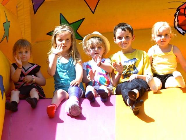 (From left) Grace Coxon, three, Megan Bradley, six, Lucie Clipston, three, Harry Clipston, nine and Olivia Terry