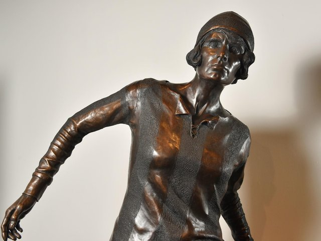 Lily Parr statue at the National Football Museum