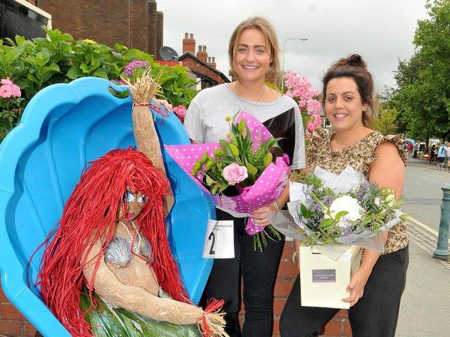 Staff from The Flower Shop By Morgan, Leah Loftus and Tilly Tomlinson join the Little Mermaid