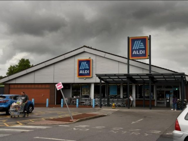The Aldi store at Deepdale which will be demolished to make way for a bigger one.