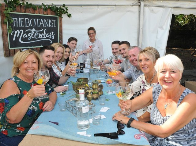 Attendees at the Plungington Gin Festival