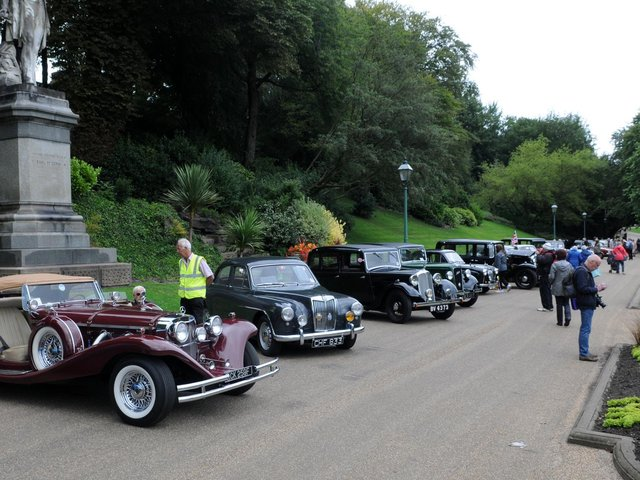 The Classic Car day at Avenham and Miller Park
