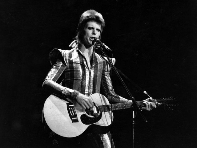 David Bowie has been banned from Preston Guild Hall for inciting youngsters