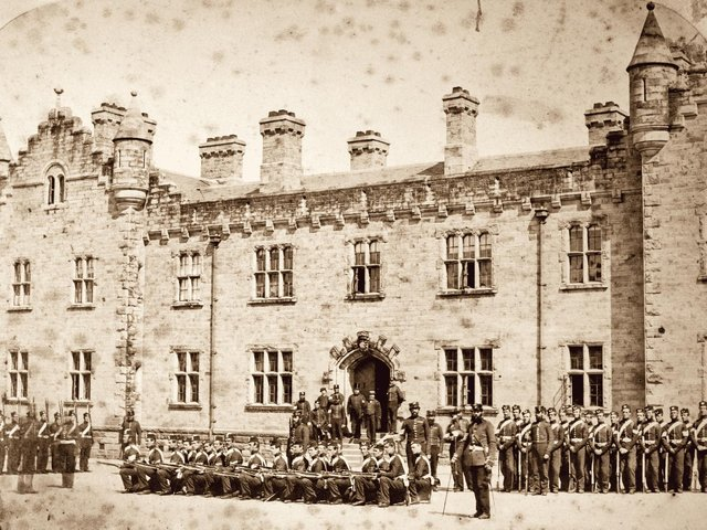 The 1st Battalion of the Royal Lancashire Militia pictured in the 1860s. Several black soldiers served with the regiment