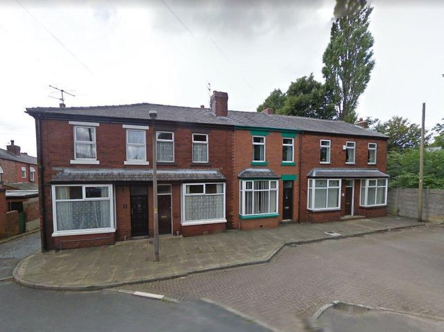 Sean Fisher, 24, has been arrested in connection with an arson investigation after a family had to be rescued from their burning home in Vicarage Street, Chorley on Wednesday, June 24. Pic: Google