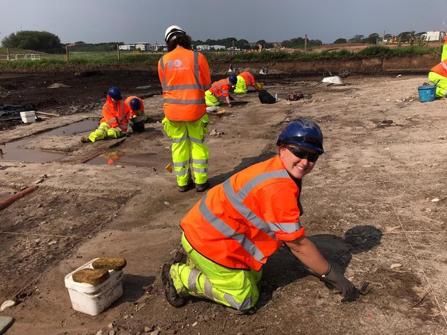 UCLan students have been helping out at the A585 bypass archaeology project