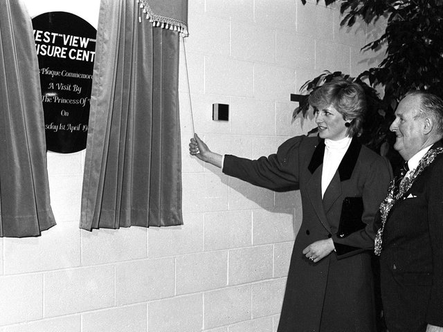 Princess Diana at the opening of the West View Leisure Centre