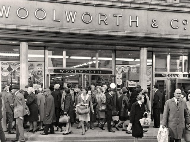 Christmas shopping at Woolworth