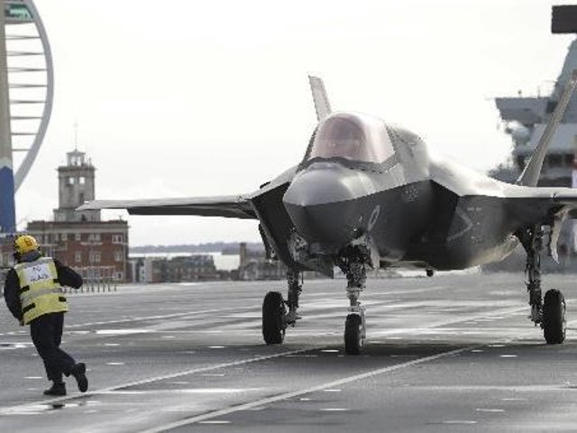 The F-35 will operate from the Royal Navy's aircraft carriers