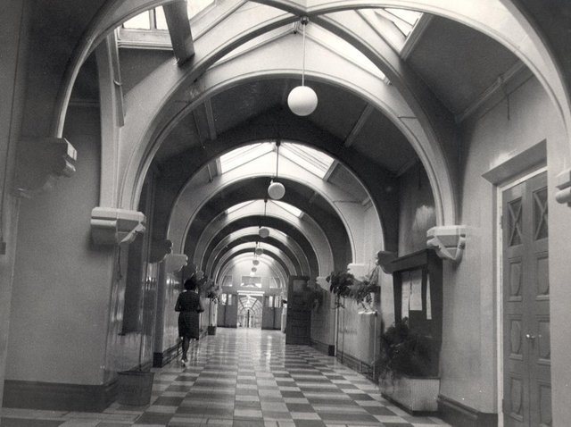 The stark interior of Whittingham Hospital, which is now set to close