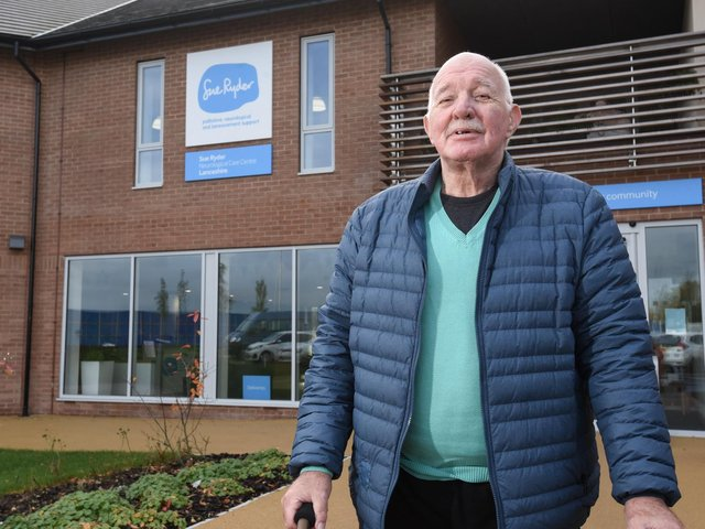 Barry Whaite at Sue Ryder centre in Fuwlood