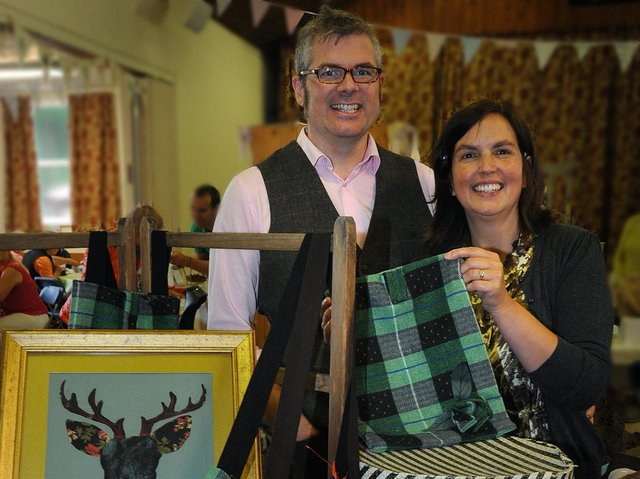 Heather and Gordon Chapman started their Hopeful and Glorious fairs in 2014 to showcase the best of the county's art and craft work.