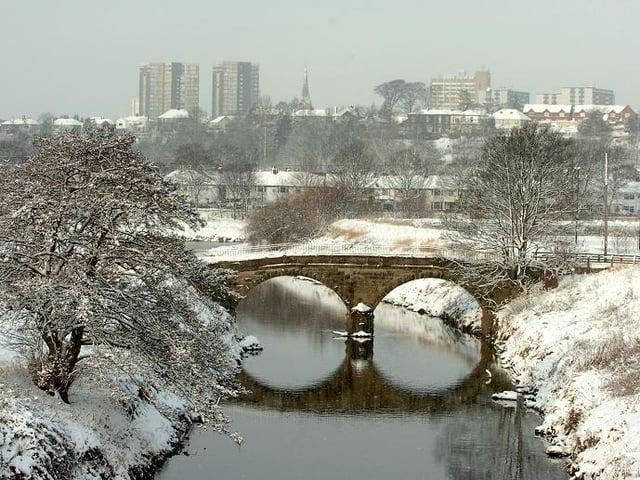 A snowy scene in Preston, 2010
