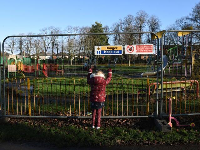 The playground will be closed for around three weeks