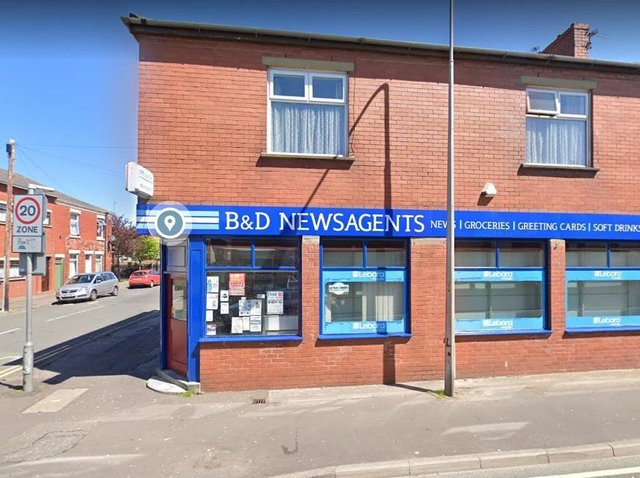 The newsagent's shop which will become the Eldon Local convenience store.