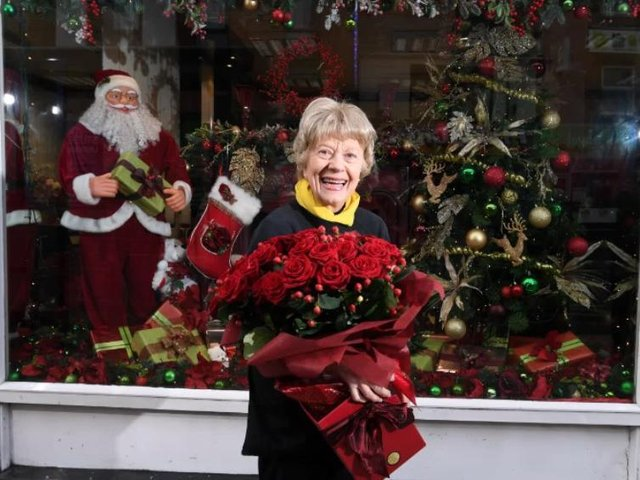 Margaret's legendary window displays will continue this Christmas even though the shop is shut.