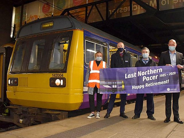 The last Northern Pacer to carry customers being bid a final farewell on its last journey