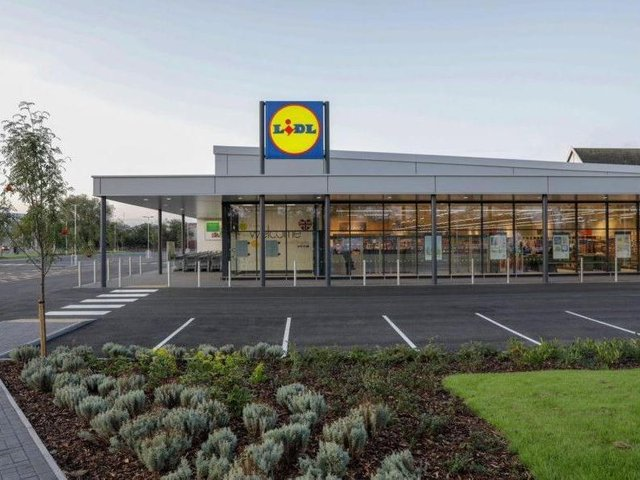 The Lidl supermarket is the flagship store at the new 'Eastway Hub', a mini retail park sandwiched between Eastway and the M55 in Fulwood. Pic: Lidl