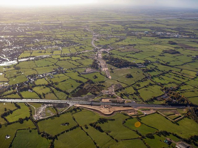 Preston Western Distributor at the M55 end of the two-and-a-half-mile route - late October 2020 (image: Costain)