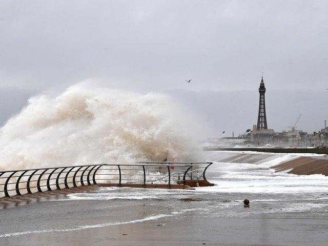 """Meteorologists have warned the extreme weather may result in """"injuries and danger to life"""" due to large waves and beach material being thrown onto sea fronts."""