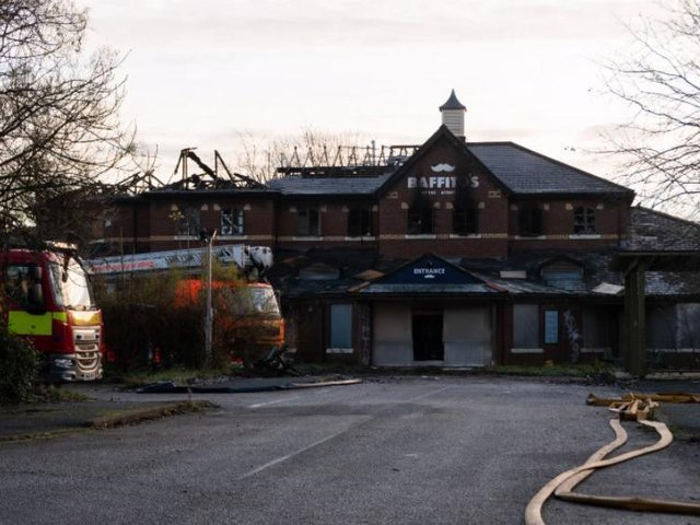 What was left of Baffito's after a fire at the start of December.